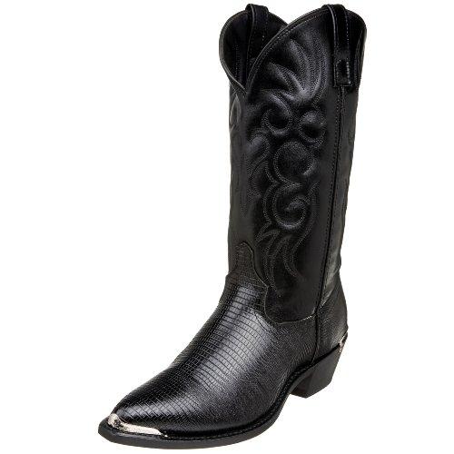 Laredo Men's 68085 13″ Lizard Print Boot,Black,8.5 EW US