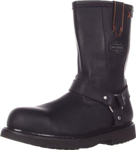 Harley-Davidson Men's Bill Steel Toe Harness Motorcycle Boot, Black, 13 M US