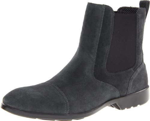Rockport Men's Total Motion Chelsea Chelsea Boot,Grey Suede,11.5 W US