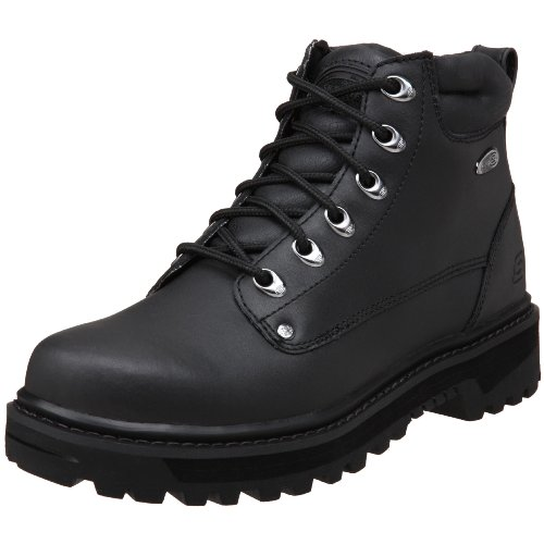 Skechers USA Men's Pilot Utility Boot,Black,10 M US