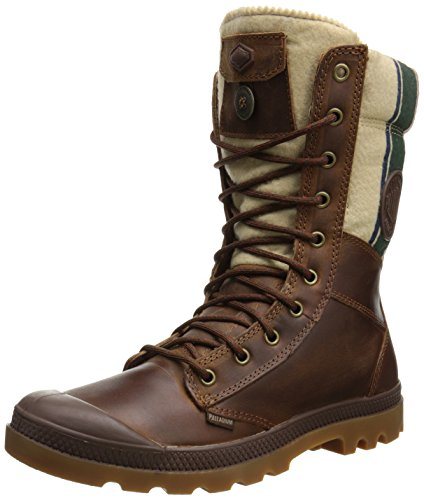 Palladium Men's Tactical Plus Combat Boot, Brindle Brown, 14 M US