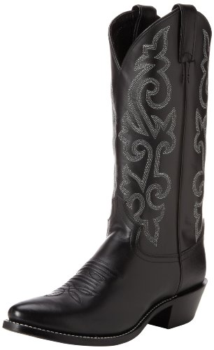 Justin Boots Men's 13″ Western Boot Medium Round Toe,Black London Calf,9 D US