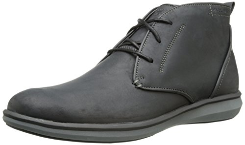 Mark Nason by Skechers Men's Dewsbury Chukka Boot,Black Leather,11.5 M US