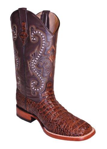 Ferrini Western Boots Mens Caiman Gator Cowboy 12 EE Rust 40393-23
