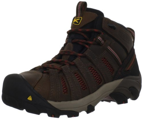 KEEN Utility Men's Flint Mid Work Boot,Slate Black/Burnt Henna,9 D US