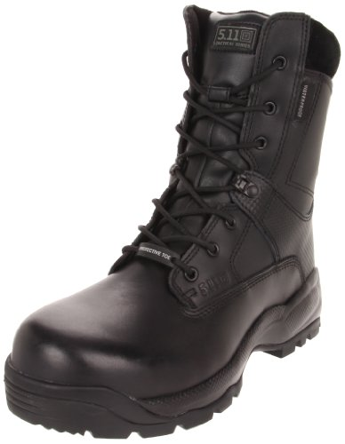 5.11 Men's A.T.A.C. SHIELD 8″ Side Zip Certified Safety Toe Boot,Black,10.5 D(M) US