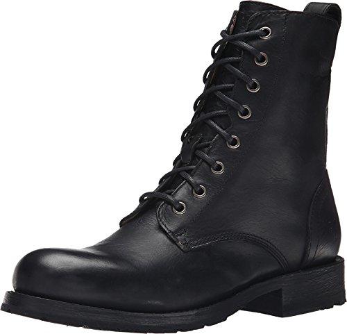 FRYE Men's Rogan Tall Lace-Up Boot, Black Antique, 8.5 M US