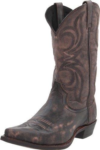 Dingo Men's Wyldwood Boot,Black/Tan Crackle,10.5 D (M) US