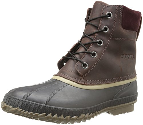 Sorel Men's Cheyanne Lace Full Grain Rain Boot,Madder Brown/Stout,14 M US