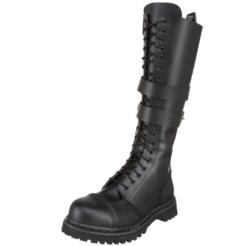 Demonia by Pleaser Men's Predator 1 Lace-Up Boot,Black Leather,12 M US