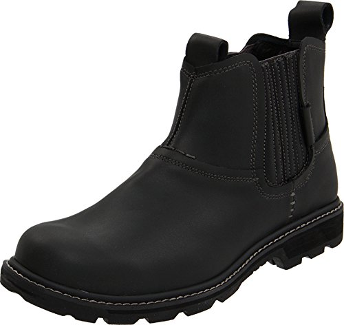 Skechers Men's Blaine – Orsen Black Leather 10.5 M US