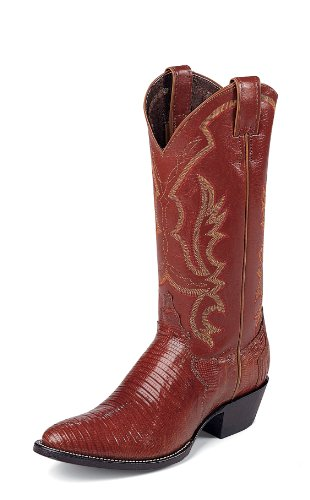 Justin Mens 8303 Peanut Brittle Iguana Lizard Boots Made In USA (11B)