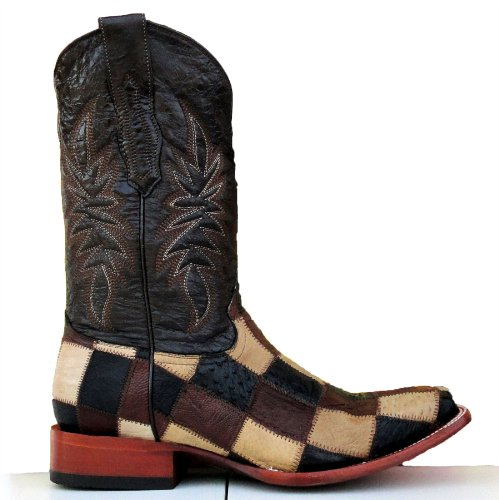 Corral Men's Ostrich Patchwork Boot Multi 8.5 D(M) US
