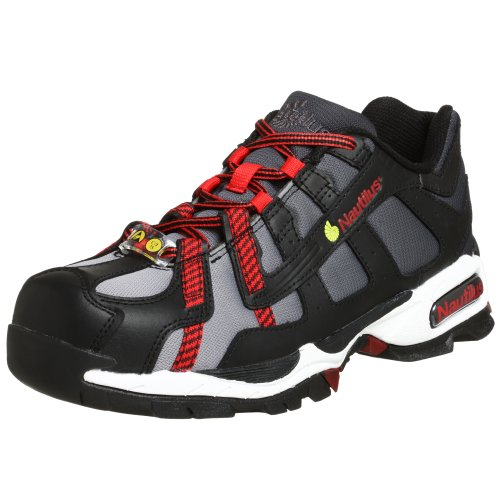 Nautilus Safety Footwear Men's N1317 Alloy Lite Safety Toe Sneaker,Black/Silver/Red,10 M