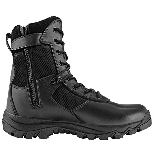 Maelstrom Men's Landship 8 Inch Zipper Tactical Boot, Black, 11 M US