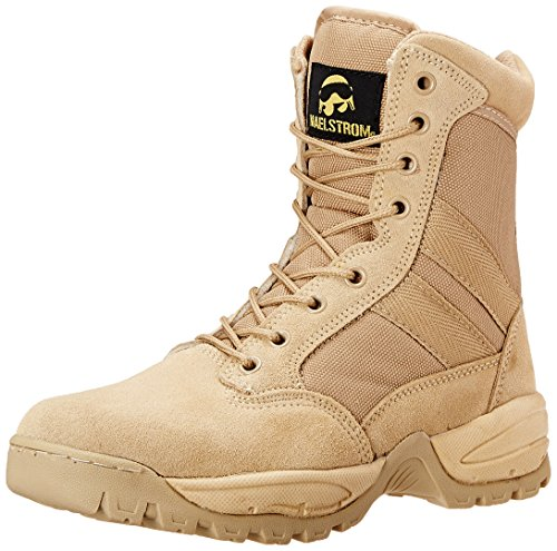 Maelstrom Men's Tac Force 8 Inch Zipper Tactical Boot, Tan, 10 M US