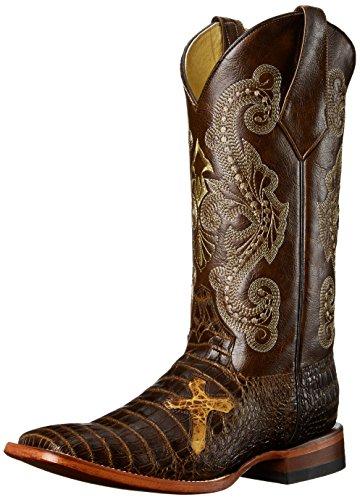 Ferrini Men's Print Belly Gator BN Western Boot, Brown, 12 D US