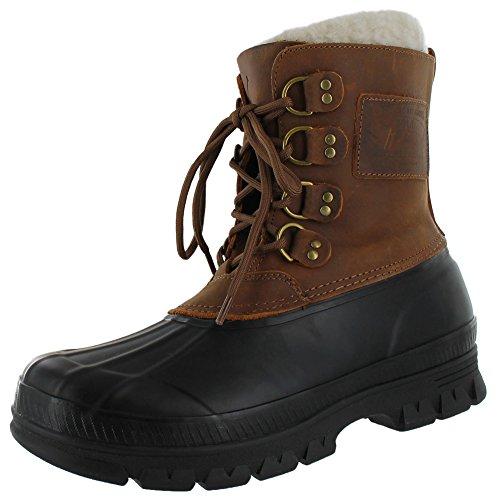 Polo Ralph Lauren Landen Men's Shearling Duck Boots Brown Size 11