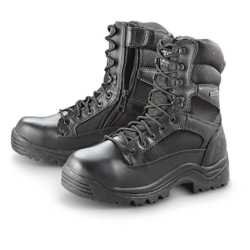 Men's HQ ISSUE Side Zip Tactical Boots Waterproof Black, BLACK, 12M
