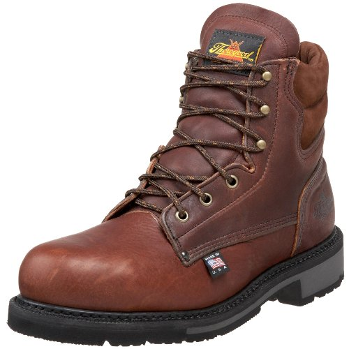 Thorogood American Heritage 6″ Safety Toe Boot, Walnut, 8 D US