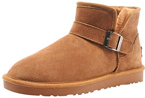 Rock Me Men's Suede Warm Ankle Snow Boot(chestnut,11)