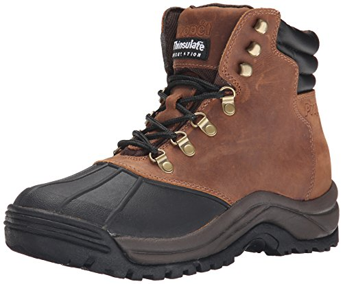Propet Men's Blizzard Midcut Boot,Brown/Black,8 5E US