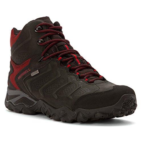 Merrell Men's Chameleon Shift Mid Waterproof Hiking Boot, Black/Red, 11.5 M US