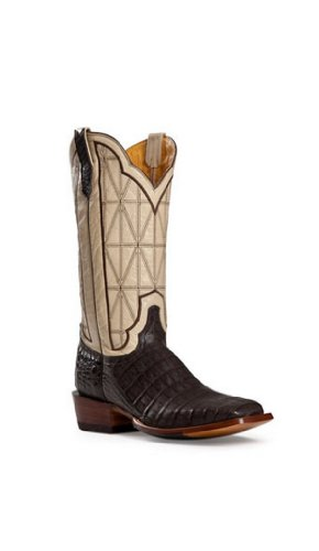 Cinch Men's Classic Caiman Stained Glass Cowboy Boot Square Toe Cigar US