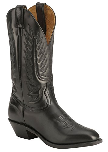 Boulet Men's Dress Cowboy Boot Round Toe Black US