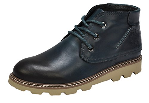 Serene Mens Comfortable Retro Steel Toe Chukka Boots (7.5 D(M)US, Navy)