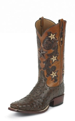 Tony Lama 1005 Men's 13-in Cowboy Classic Ostrich Boot Tobacco 10 D US