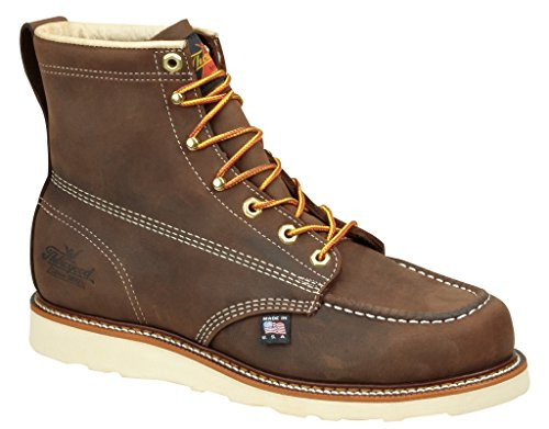 Thorogood 6″ Moc Toe Boot, Brown Crazyhorse, 8.5 D US