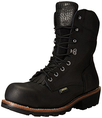 Wolverine Men's Buckeye 8 Inch Gore EAA Logger Work Boot, Black, 11 M US