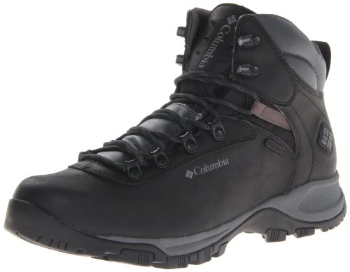 Columbia Men's Mudhawk Waterproof Hiking Boot,Black/Charcoal,9 D US