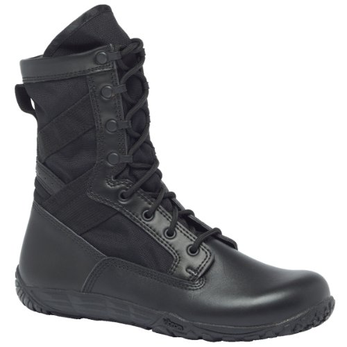 Tactical Research TR102 Men's Mini-Mil 8-in Trainer Tactical Boot Black 13 M US