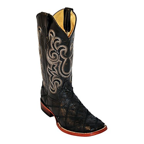 Ferrini Mens Ostrich Patch Sq Boots 13D Kango