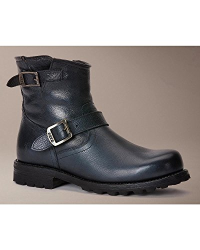 Frye Men's Warren Engineer Black Tumbled Leather/Shearling Boot 11 D (M)