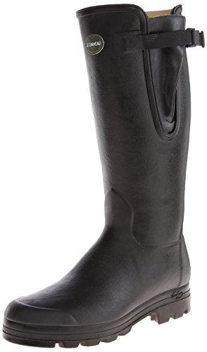Le Chameau Footwear Men's Vierzon Cuir Rain Boot, Noir, 46 EU/12 M US
