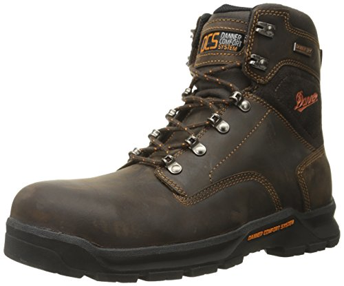 Danner Men's Crafter 6 Inch Non-Metallic Toe Work Boot, Brown, 10 D US