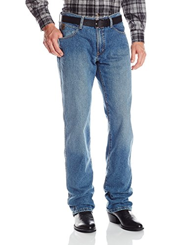 Ariat Men's Heritage Relaxed Fit Jean, Medium Stone, 38×30