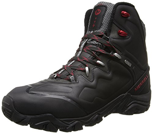 Merrell Men's Polarand 8 Waterproof Winter Boot,Black,10 M US