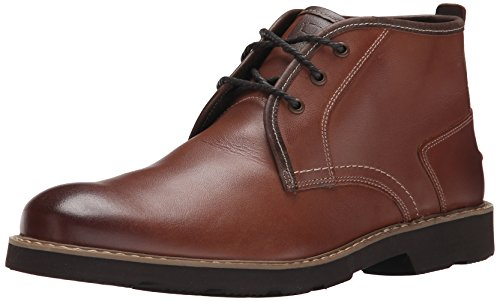 Florsheim Men's Casey Plain Toe Chukka Boot, Cognac, 9 D US