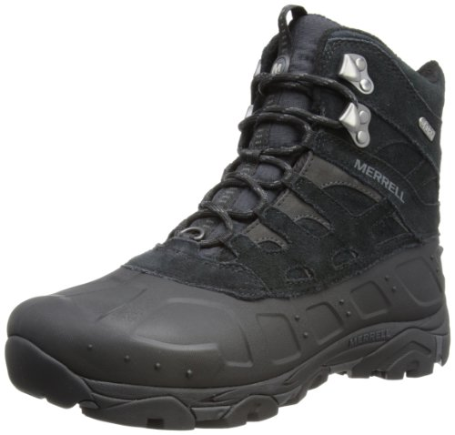 Merrell Men's Moab Polar Waterproof Winter Boot,Black,13 M US