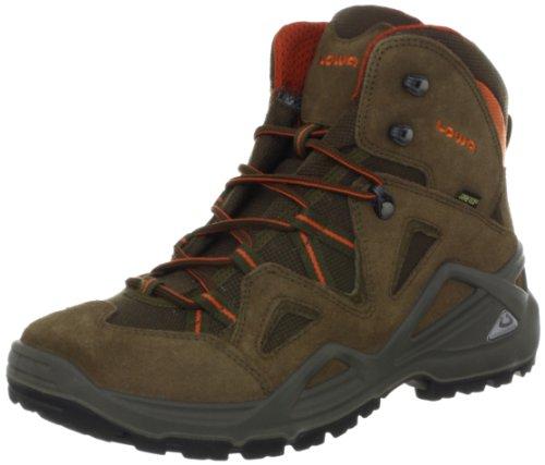 Lowa Men's Zephyr GTX Mid Hiking Boot,Brown/Rust,11 M US