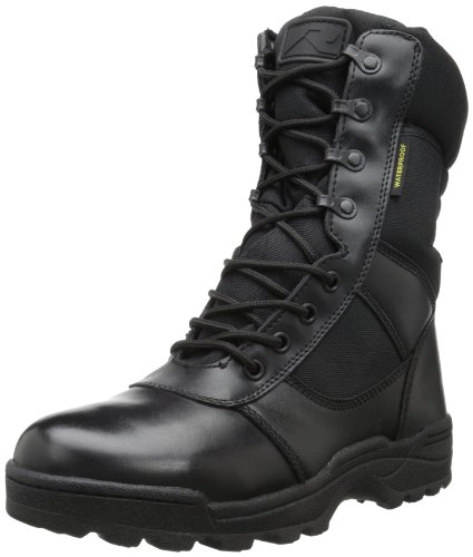 Ridge Footwear Men's Dura-Max Waterproof Work Boot,Black,9 W US