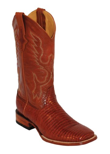 Ferrini Mens Teju Lizard Sq Toe Peanut Boots 10.5D