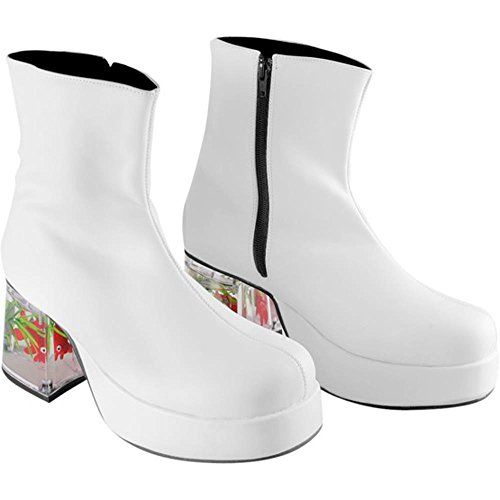 Men's White Fish Tank Costume Shoes (Size: X-Small 7)
