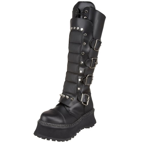 Pleaser Men's Ravage 2 Buckled Boot,Black Leather,9 M US