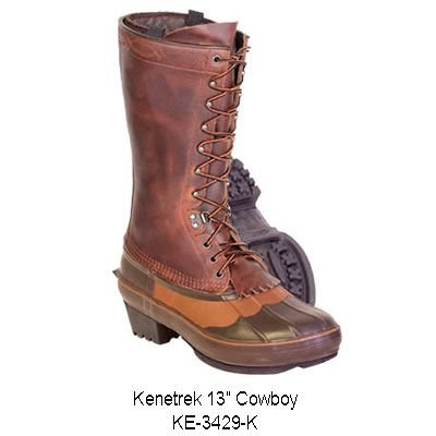 Kenetrek Men's 13″ Cowboy Insulated Boot,Brown,10 M US