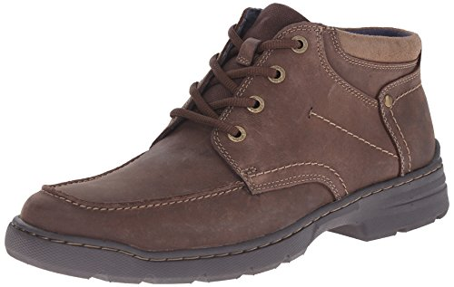 Clarks Men's Newbern Up Chukka Boot, Brown Leather, 11 M US